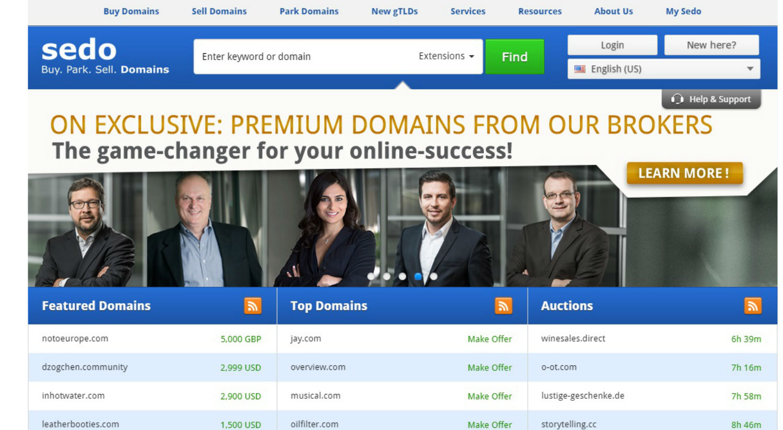 Comprar nombres de dominio ya registrados